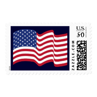 Patriotic Waving American Flag Stamp