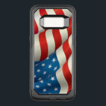 "Patriotic Waving U.S. Flag OtterBox Commuter Samsung Galaxy S8 Case<br><div class=""desc"">A beautiful waving U.S. Flag with its red white and blue Stars and Stripes.</div>"