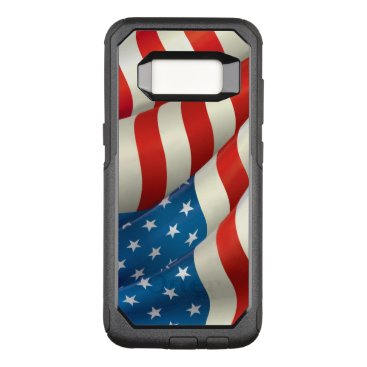 USA Themed Patriotic Waving U.S. Flag OtterBox Commuter Samsung Galaxy S8 Case