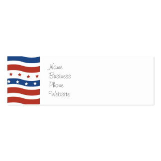 Patriotic Wavy Stars and Stripes Freedom Flag Business Cards