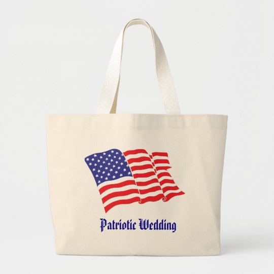 Patriotic Wedding Large Tote Bag