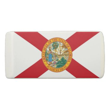 Beach Themed Patriotic Wedge Eraser with flag of Florida
