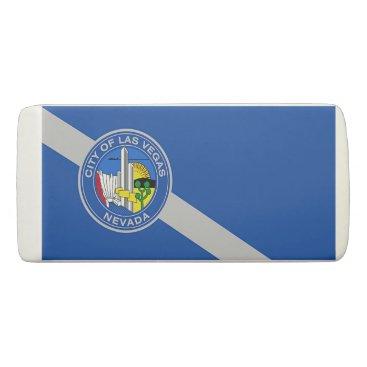 Patriotic Wedge Eraser with flag of Las Vegas.