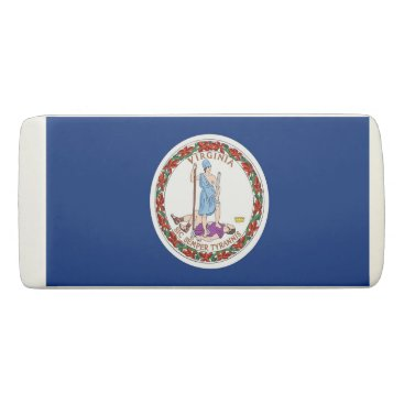 Beach Themed Patriotic Wedge Eraser with flag of Virginia
