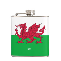 Patriotic Welsh Flag Design Hip Flask at Zazzle