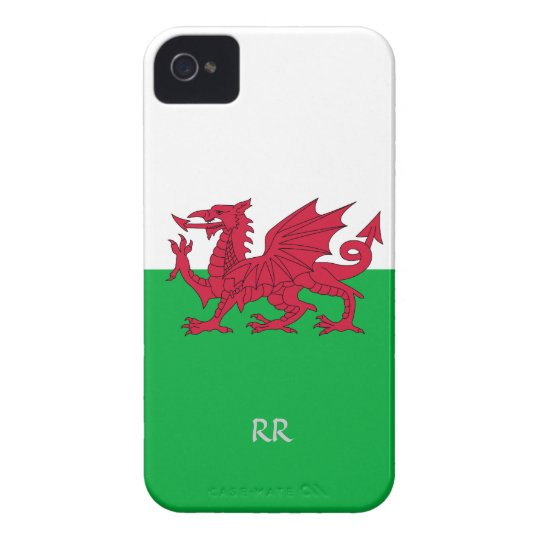 Patriotic Welsh Flag Design on Blackberry Bold iPhone 4 Cover