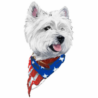 Patriotic West Highland White Terrier Cutout