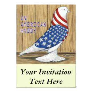 Patriotic West Pigeon Card