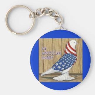 Patriotic West Pigeon Key Chains