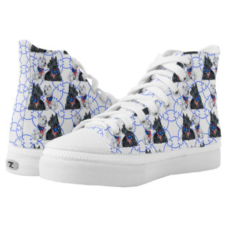 Patriotic Westie and Scottie Dogs High-Top Sneakers