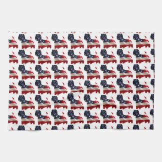 Patriotic Westie Hand Towel