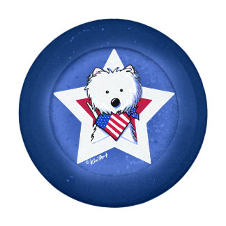 Patriotic Westie KiniArt Pack Of Small Button Covers