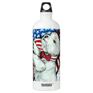 Patriotic Westie SIGG Traveler 1.0L Water Bottle