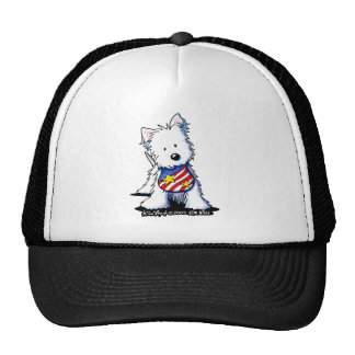 Patriotic Westie Trucker Hat