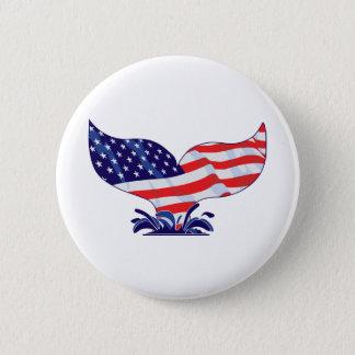 Patriotic Whale Tail Button