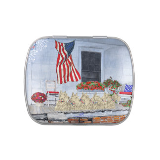 Patriotic Wheaten Scottish Terriers Candy Tins