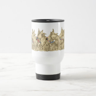 Patriotic Wheaten Scottish Terriers Travel Mug