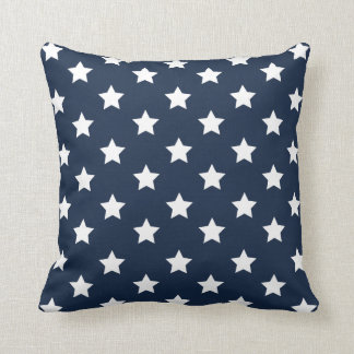 Patriotic White & Blue Stars Pillow