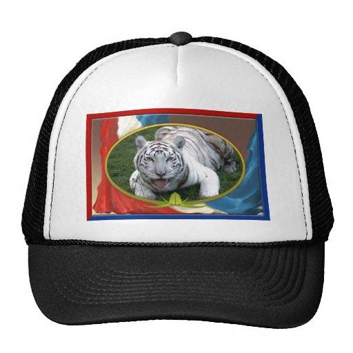 patriotic-white-tiger-021 trucker hat