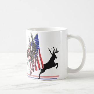 Patriotic Whitetail buck Classic White Coffee Mug