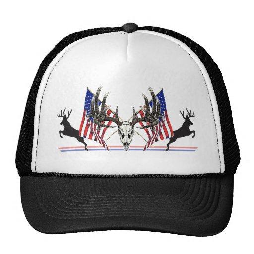 Patriotic Whitetail buck Trucker Hat