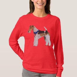 Patriotic Wire Fox Terrier T-Shirt
