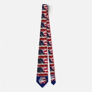 Patriotic Wolfhound Tie