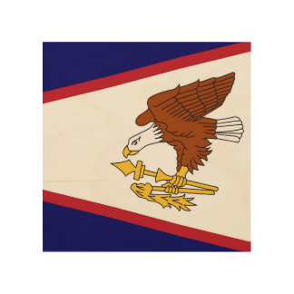 Patriotic wood canvas with Flag of American Samoa