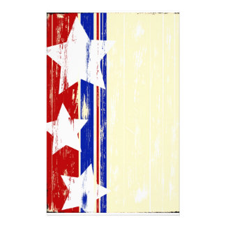 Patriotic Wood Stationary Stationery