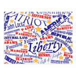 Patriotic Words Design Postcard