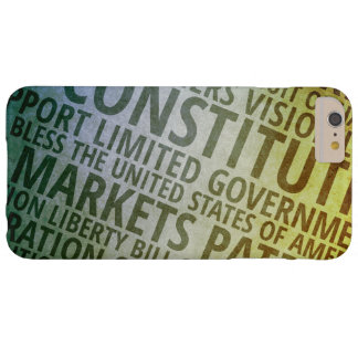 Patriotic Words of America Barely There iPhone 6 Plus Case
