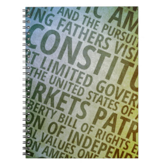 Patriotic Words of America Notebook