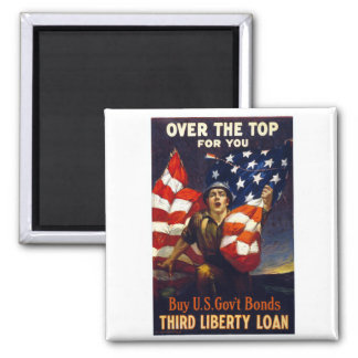 Patriotic World War One OVER THE TOP Magnet