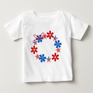 Patriotic Wreath Baby T-Shirt