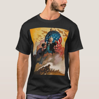 patriotic WWII poster t-shirt