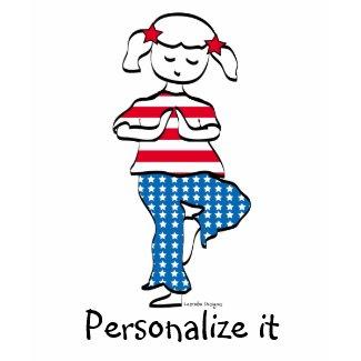 Patriotic Yoga Girl Apparel shirt