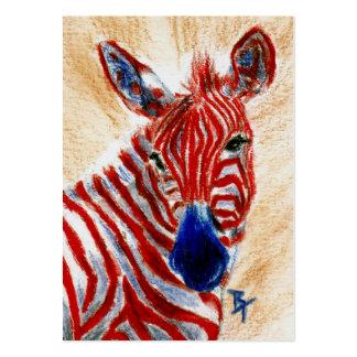 Patriotic Zebra ArtCard Large Business Cards (Pack Of 100)