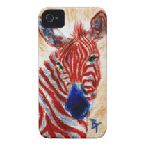 Patriotic Zebra BlackBerry Bold Case