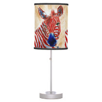 Patriotic Zebra Desk Lamp