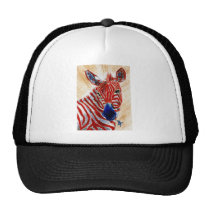 Patriotic Zebra Hat