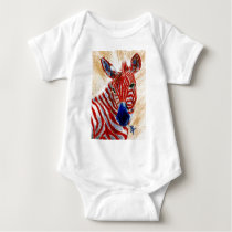 Patriotic Zebra Infant Tee Shirt