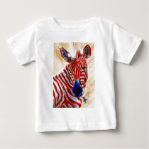 Patriotic Zebra Infant Tshirt