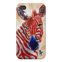 Patriotic Zebra IPhone 4 Case
