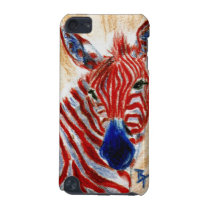 Patriotic Zebra IPod Touch Case