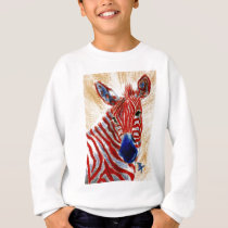 Patriotic Zebra Kids Sweatshirt