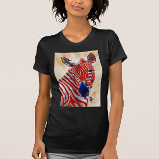 Patriotic Zebra Ladies Tshirt