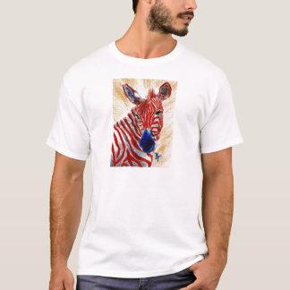 Patriotic Zebra Mens Tshirt