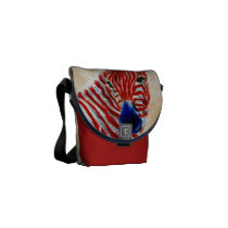 Patriotic Zebra Mini Messenger Bag