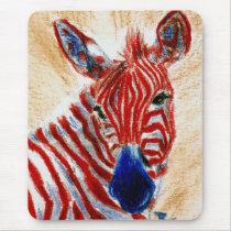 Patriotic Zebra Mousepad