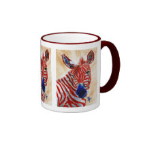 Patriotic Zebra Mug